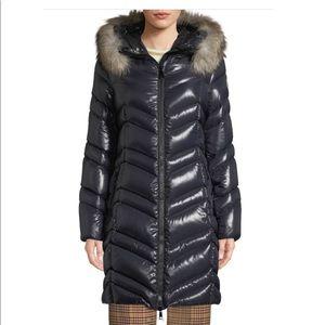 Moncler 3/4 coat with removable fur trim size 5